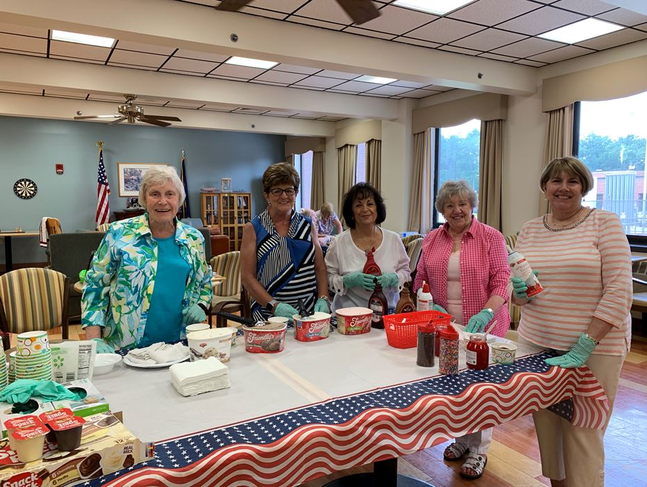ICE CREAM SOCIAL AT THE VETERAN'S ADMINISTRATION