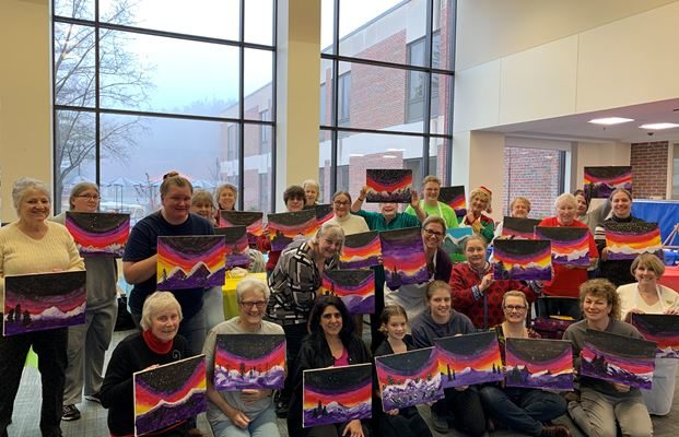 WOMEN VETERANS PAINT PARTY